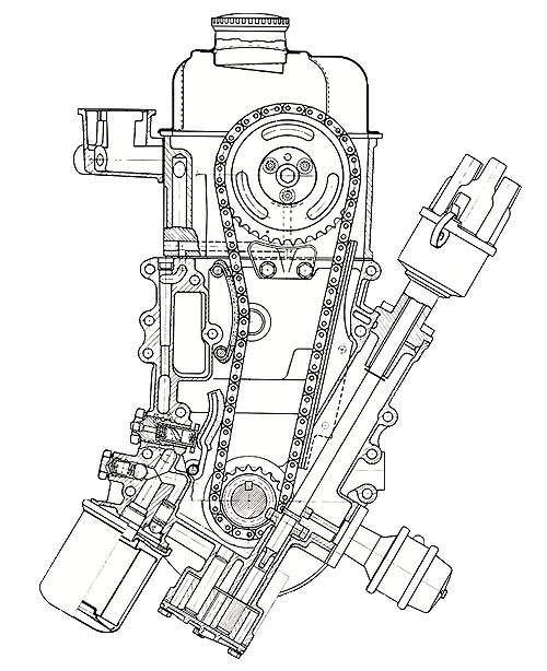 CIH двигатель. поперечный